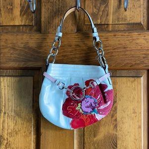 Floral Coach Handbag